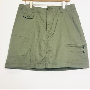 Croft&Barrow 2in1 Olive Casual Cargo Skirt 12